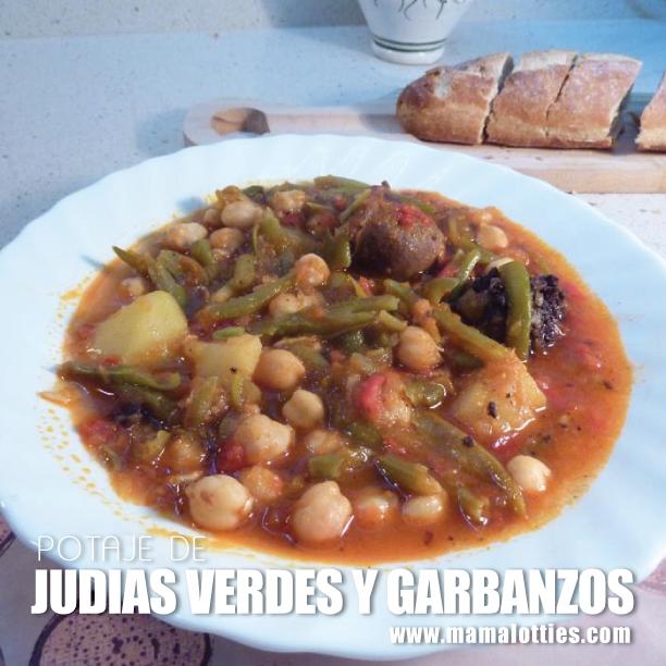 Potaje de judias verdes y garbanzos mama lotties - Potaje de garbanzos y judias ...