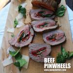 beef pinwheels, cima enrolada
