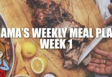Mama's Weekly Meal Plan Week 1