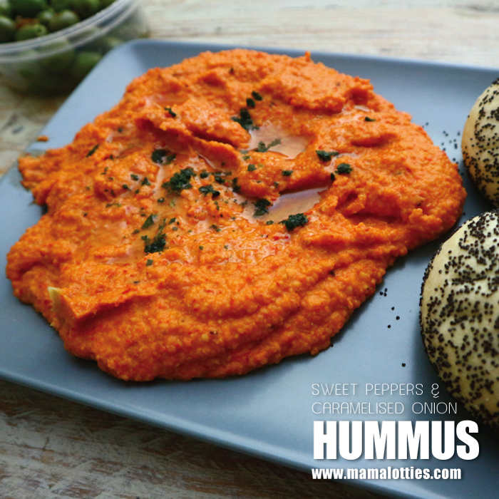 Sweet Pepper and Caramelised Onion Hummus